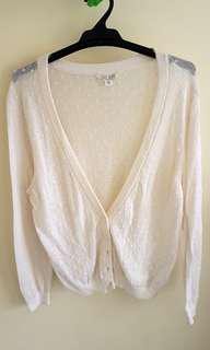 Jayjays beige cotton cardigan