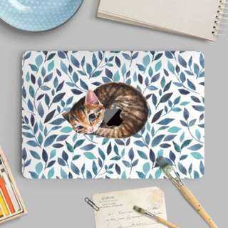 Cat Kitty Snuggle Macbook Vinyl Decal