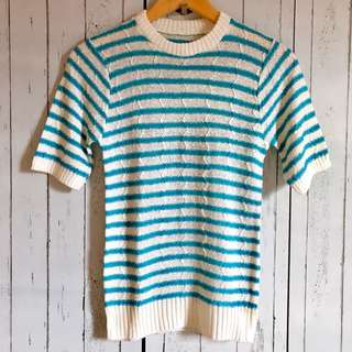 Stripe knitted Blouse
