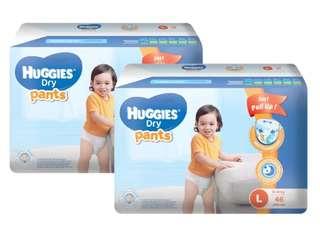 Huggies Dry Pants Large 46s