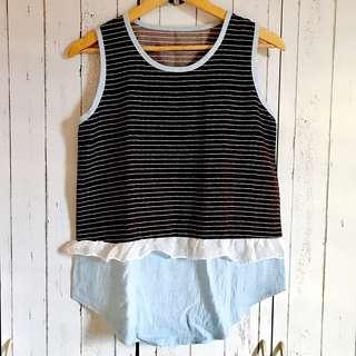 Stripe Sleeveless Top