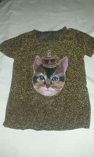 Gold Cat Top