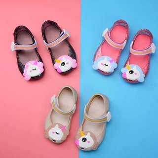 Jelly Shoes Unicorn Black