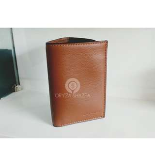 Dompet COACH AUTHENTIC F23845 Trifold Wallet Saddle