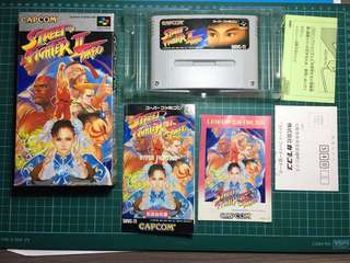 Street fighter 2 turbo for super famicom / nintendo Tested working
