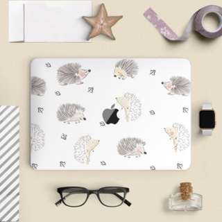 Cute Tiny Porcupine Hedgehog Macbook Vinyl Decal