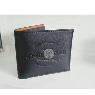 DOMPET COACH AUTHENTIC F24647 Doubble Billfold Black
