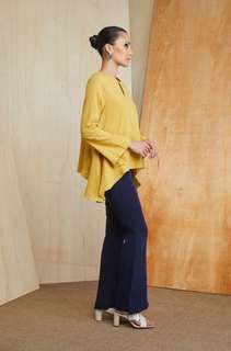 ❤️Anniversary Sale❤️MKITA RAYA SIDE BIAS TOP IN MUSTARD YELLOW