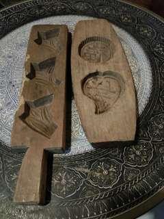 Acuan kuih kayu antik c