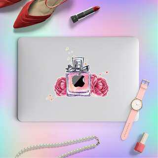 Cosmetics Perfume Bottle Macbook Laptop Vinyl Decal