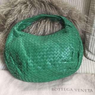 Bottega Veneta Intrecciato Woven Nappa Hobo Bag  (Green)