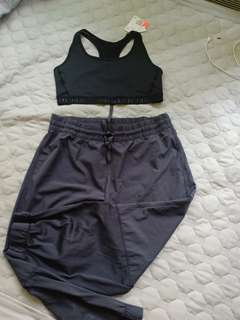 H&M sports bra plus Jockey sweat pants