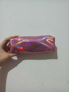 Pink Hologram Pencil Case