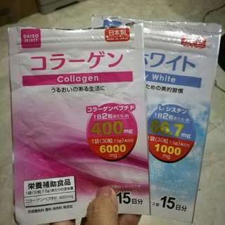 Daiso Collagen & Whitening - Japan Supplement