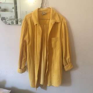 Vintage Yellow corduroy Shirt/Jacket