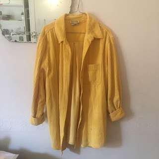 Vintage Yellow corduroy Shirt/Jacket