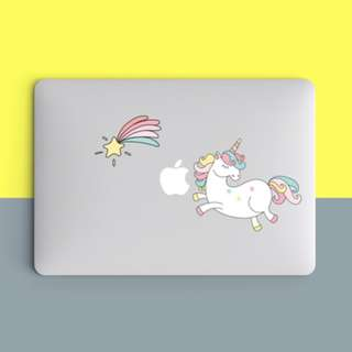 Unicorn Shooting Star Pastel Laptop Macbook Vinyl Decal
