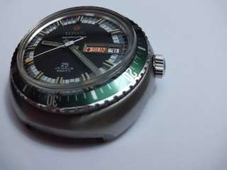Rare vintage Titoni Seascoper with Green Bezel