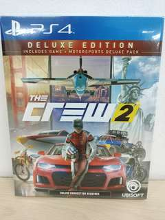 (Brand New) PS4 The Crew 2: Deluxe Edition / R3