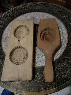 Acuan kuih kayu antik e