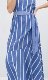 Halter Neck Maxi Dress- Stripe