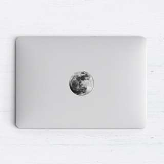 The Moon Picture Macbook Laptop Vinyl Decal