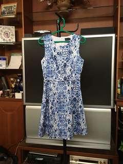 FYN Porcelain Floral Dress