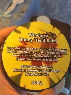 Organic honey hand balm