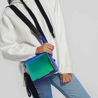 Charles and keith hologram sling bag tas cnk