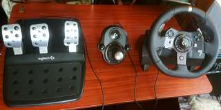 Logitech G920 Steering Wheel with Pedals and Gear Shifter