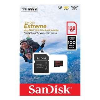 SanDisk 128GB Extreme UHS-I SDXC Memory Card