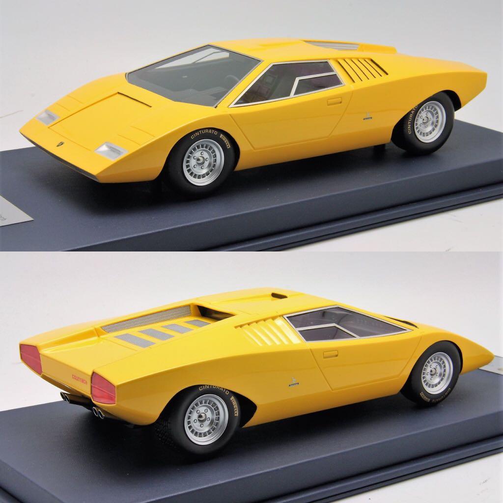1 18 Looksmart Lamborghini Countach Lp500 Prototype Yellow Toys