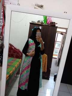 Outer long cardi batik muslim