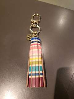 TORY BUNCH multi color tassel key chain