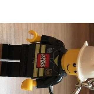 Lego Fireman Keychain with flashlight