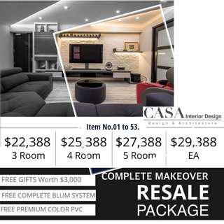 Renovation Package - Resale 3/4/5/EA