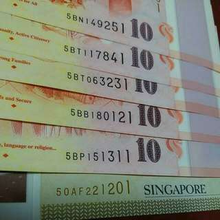 sg 50 commemorative note with nice number