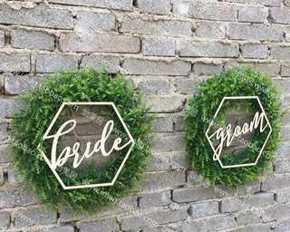 ROM Bride & Groom signs for rent
