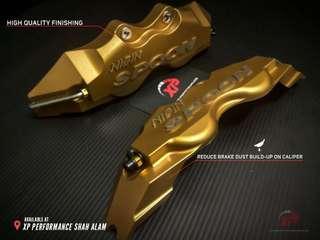 Nisin spoon brembo wilwood Aluminium Brake Caliper Cover Gold color 240mm medium