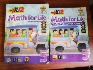 MATH FOR LIFE 5 with manual