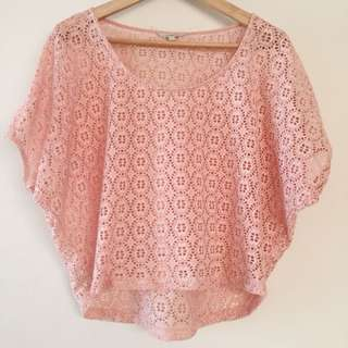Pink lacey