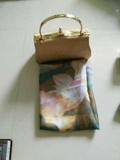 Shawl and mini bag