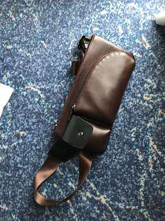 Leather Chest Pouch