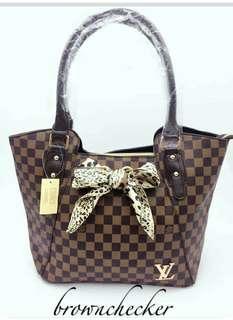 Lv handbag with paper bag
