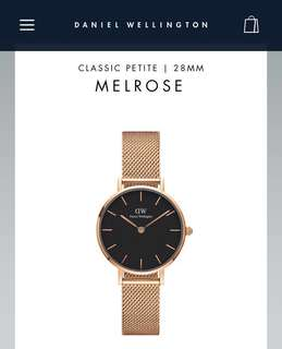 Authentic DW Classic Petite MelRose