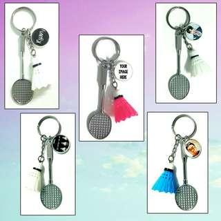 🚚 Customized badminton keychains