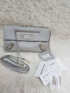 Authentic clucth/sling balenciaga grey
