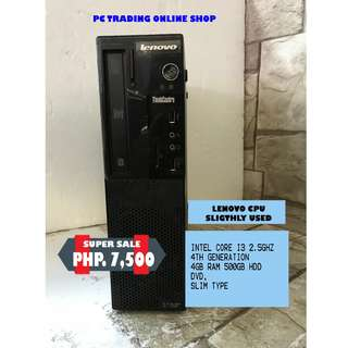 lenovo core i3 4th gen CPU only 4gb ram 500gb hard drive super sale