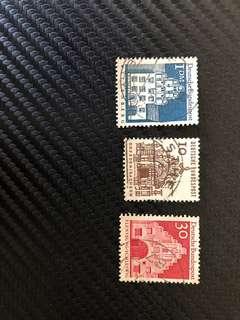 Vintage stamps - Deutsche Bundespost (1965-1966)