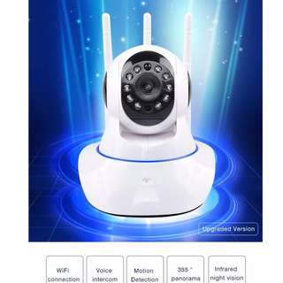 Wifi Full HD CCTV 3-Antenna Camera with voice intercom Infrared night vision